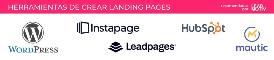 Herramientas landing pages