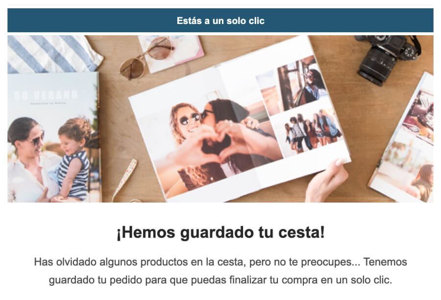 email de remarketing para carritos abandonados