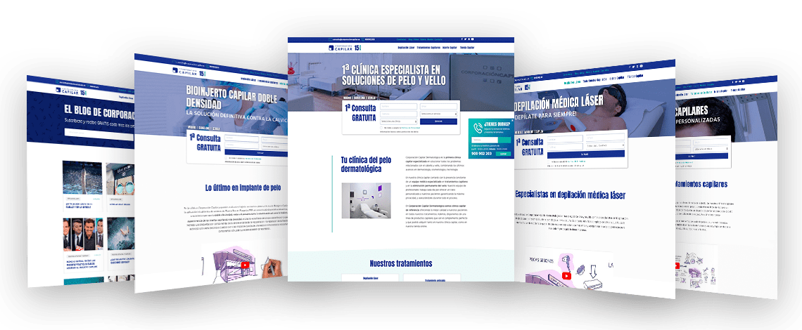 Diseño web Corporación Capilar