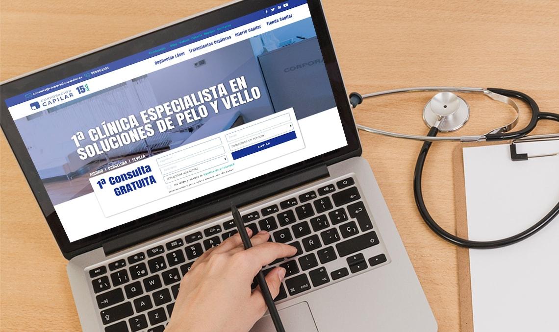 Nueva web Corporación Capilar