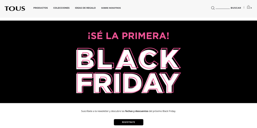 Ejemplo estrategia web Black Friday