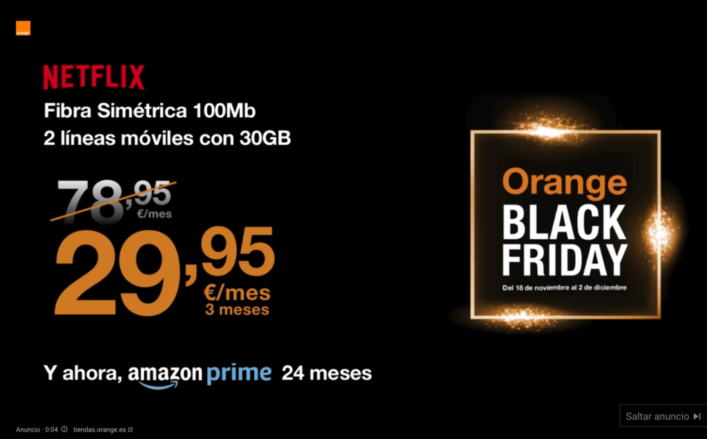 campaña de vídeo en Google Ads durante la semana de Black Friday