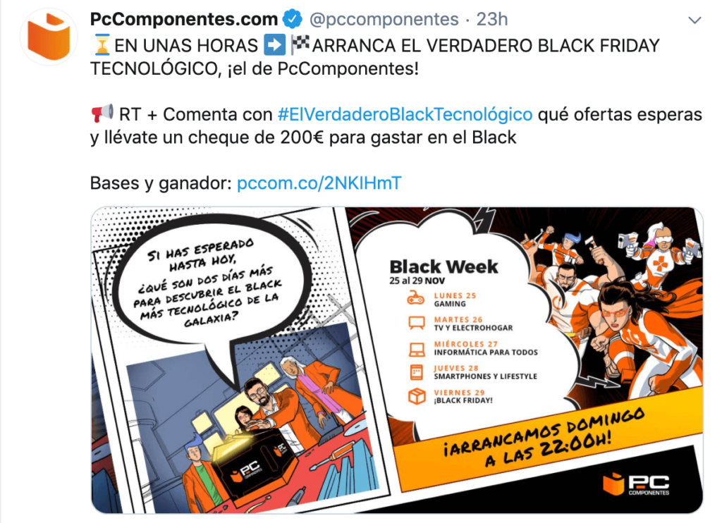 ejemplo twitter black friday