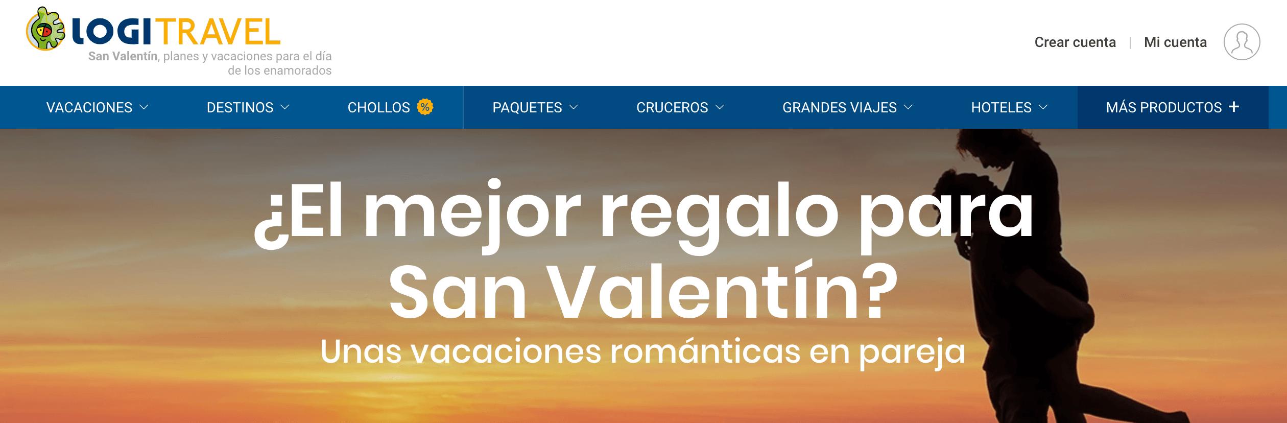 cambio de portada web por San Valentín