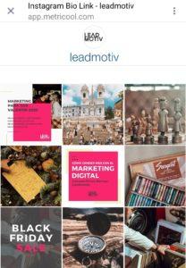 ejemplo poner link en instagram con metricool