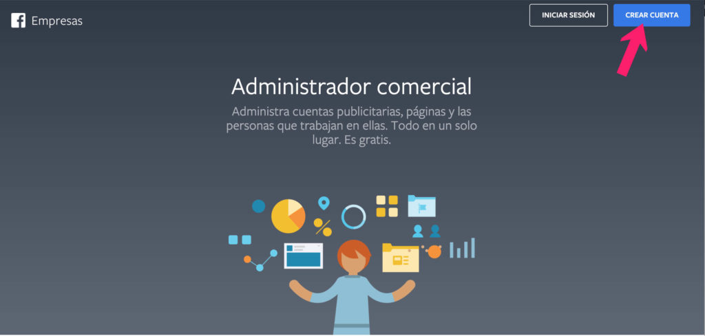 página principal business manager
