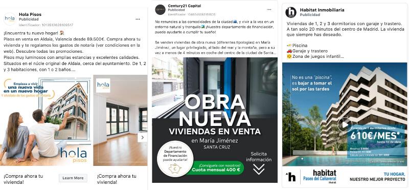 anuncios de agencias inmobiliarias en facebook ads