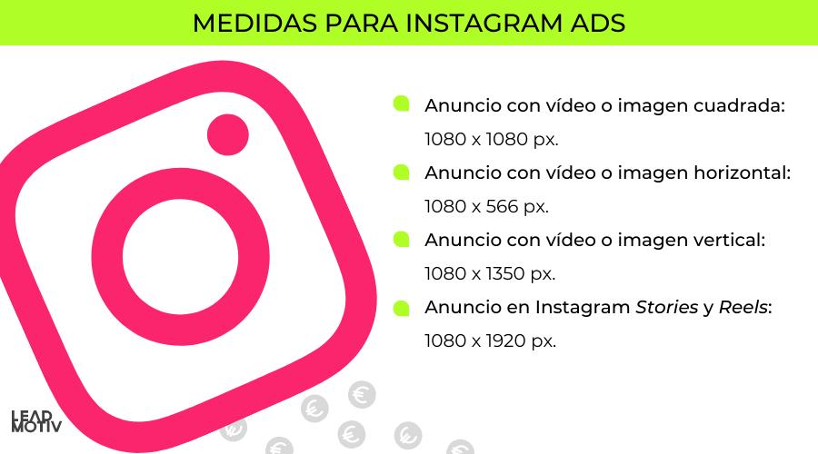 medidas instagram ads