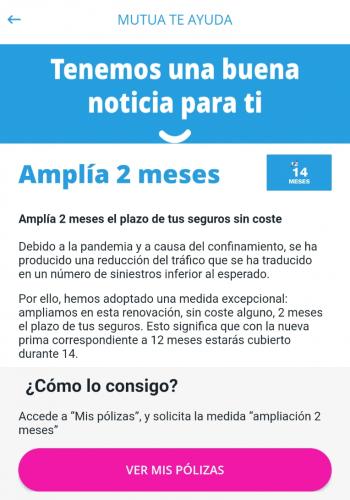 accion de marketing en app por coronavirus